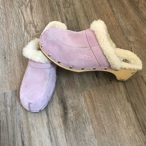 UGG Pink Fur Lined Clogs